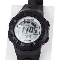 Relógio Infanto Juvenil Adulto Preto Digital Calendário - Orizom