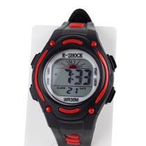 Relógio Infanto Juvenil Preto Digital Calendário Alarme - Orizom