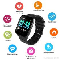 Relógio Inteligente A6 Pressão Arterial E Monitor Cardíaco Sport Android / Ios -