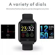 Relógio Inteligente A6 Smart Watch Bluetooth Monitor Esportes Fitness Preto - Lx