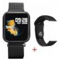 Relógio Inteligente Bluetooth Smart Watch P80 Android E Ios - Preto -