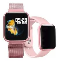 Relógio Inteligente Bluetooth Smart Watch P80 Rosa - Sport