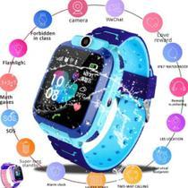 Relógio Inteligente Criança Rastreador Localizador Camera Anti-lost Sos Smartwatch (cor AZUL) - RTS