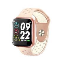 Relogio Inteligente F8 Smartwatch Troca Foto e Pulseira - Rosa/branco - Smart Watch