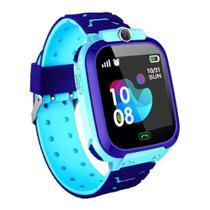 Relógio Inteligente Infantil Criança Rastreador Localizador C/câmera Anti-lost Sos Smartwatch - AZUL - Rts