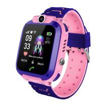 Relógio Inteligente Infantil Criança Rastreador Localizador C/câmera Anti-lost Sos Smartwatch -ROSA - Rts