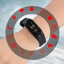 Relógio Inteligente M4 Smart Watch Inteligente Tela Colorida Bluetooth Frequência Cardíaca - Lx