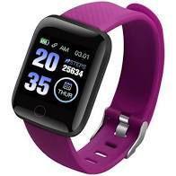Relógio Inteligente Pulseira D13 Fitpro SmartWatch Monitor Cardíaco Pressão Arterial Cor: Lilas - abc
