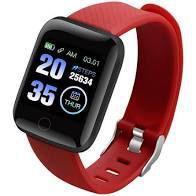 Relógio Inteligente Pulseira D13 Fitpro SmartWatch Monitor Cardíaco Pressão Arterial Cor: Vermelho - abc