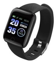Relógio Inteligente Pulseira D13 Plus Fit Pro Android e iOS Monitor Cardíaco saúde Bluetooth - Preto - Smart Bracelet