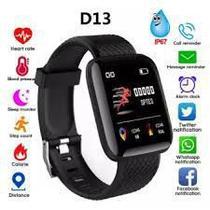 Relógio Inteligente Pulseira D13 SmartWatch -Monitor Cardíaco Pressão Arterial - abc