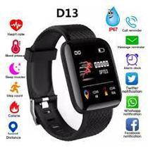 Relógio Inteligente Pulseira D13 SmartWatch Monitor Cardíaco Pressão Arterial -