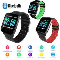 Relógio Inteligente Smart Watch A6 Monitor Esportes Fitness Android/Ios Vermelho - Lx