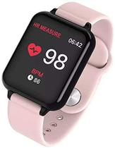 Relógio Inteligente Smart Watch B57 Hero Band 3 Monitor Cardíaco Monitor Sono Pressão Sangue iOS Android (Rosa) - Haiz