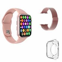Relógio Inteligente Smart Watch D20 Rosa Gps Bluetooth coloca foto + Pulseira De Aço + Pelicula de silicone -