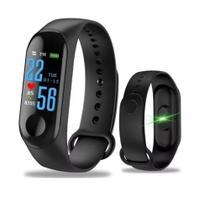 Relogio Inteligente Smartband M3 monitor cardiaco esporte fit Unissex - Smart Bracelet