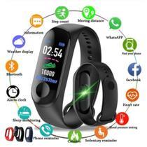 Relógio Inteligente Smartband M3 Monitor Cardíaco Pressão Arterial Sono -