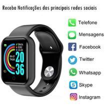 Relogio Inteligente Smartwatch Bluetooth 4.0 Resistente a Água Preto Android e IOS D13 - SMARTBRACELET