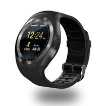 Relógio Inteligente Smartwatch Bluetooth Sono Passos De Chip Android E iOS Y1 - Import
