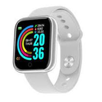 Relogio Inteligente Smartwatch D20 Bluetooth Branco -