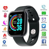 Relogio Inteligente Smartwatch D20 Bluetooth Preto -