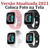 Relogio Inteligente Smartwatch D20 Bluetooth Rosa -
