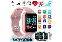 Relogio Inteligente Smartwatch D20 Bluetooth Rosa -