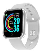 Relogio Inteligente Smartwatch D20 Pro Troca Foto da Tela e Pulseira Bluetooth Android Ios - Branco - Smart Bracelet
