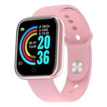 Relogio Inteligente Smartwatch D20 Pro Troca Foto da Tela e Pulseira Bluetooth Android Ios - Rosa - Smart Bracelet