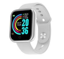 Relogio Inteligente Smartwatch D20 Y68 Bluetooth Android Ios - Branco - Smart Bracelet