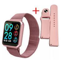 Relógio Inteligente SmartWatch Feminino Oled P70 + Duas Pulseiras Rose -