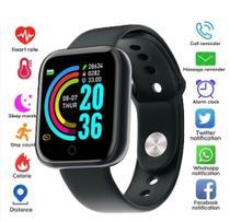 Relógio Inteligente Smartwatch Feminino Whats E Facebook Preto - Smart Watch D20
