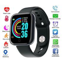 Relógio Inteligente Smartwatch Feminino Whats E Facebook Preto - Smartwatch D20