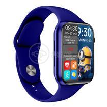 Relógio Inteligente SmartWatch HW16 Azul Troca Pulseira Android iOS Ligações Monitor Cardíaco - Smart Bracelet