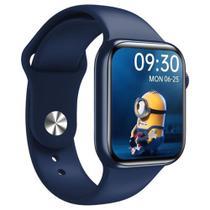 Relógio Inteligente Smartwatch  HW16 Tela Infinita 44mm Pressão Batimentos Azul - Wearfit PRO