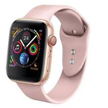Relogio Inteligente SmartWatch Iwo8 44mm compatível Iphone Samsung Lançamento 2019 cores Rosa - Smart watch