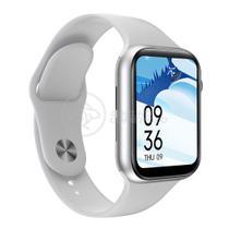 Relógio Inteligente SmartWatch S88 Branco com Jogos Troca Pulseira Android iOS Ligações Monitor - Smart Bracelet
