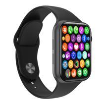 Relógio Inteligente SmartWatch W34 S Preto Troca Pulseira Android iOS Ligações Monitor Cardíaco - Smart Bracelet