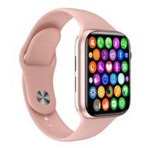 Relógio Inteligente SmartWatch W34 S Troca Pulseira Ligações Monitor Cardíaco Android e iOS rose -aws - Fit