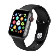 Relógio Inteligente SmartWatch W34s Troca Pulseira Ligações Monitor Cardíaco Android iOS Preto - IDEAL BRACELET