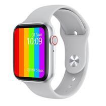Relógio Inteligente Smartwatch W46 44mm Android iOS Bluetooth - Branco - Smart Bracelet