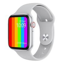 Relogio Inteligente Smartwatch W46 44mm Android iOS - Branco - Smart Bracelet