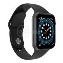 Relógio Inteligente SmartWatch W46 S Preto Troca Pulseira Android iOS Ligações Monitor Cardíaco - Smart Bracelet