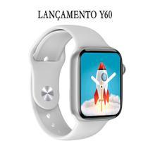 Relogio Inteligente Smartwatch Y60 44mm Android iOS Bluetooth - Branco - Smart Bracelet