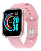 Relogio Inteligente Smartwatch Y68 Bluetooth Rosa -