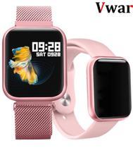 Relógio inteligente T80 IP67 Smartwatch Para IOS e Android, Frequência Cardíaca Monitor de Pressão Arterial Esporte Saúde e Muito Mais. - Smartwatch T80 Sport Bracelete