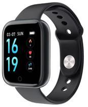 Relógio inteligente T80 Preto IP67 Smartwatch Frequência Cardíaca Monitor de Pressão Arterial Esporte Saúde Relógio Banda Para IOS e Android - Smartwatch T80