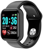 Relogio Inteligente Y68 Pro Troca Foto da Tela e Pulseira Bluetooth Android Ios - PRETO - SMARTWATCH