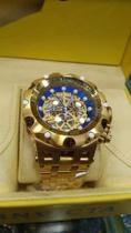 Relogio Invicta 16855 Hybrid Skeleton Dourado e Azul -