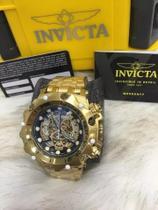 Relogio Invicta 16855 Hybrid Skeleton Dourado e Preto -